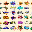 Cartoon text explosions - Imagen vectorial