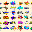 Cartoon text explosions - Imagens vectoriais em stock