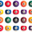 Foto Stock: Pool Ball Alphabet