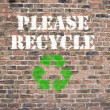Please Recycle — Stock Photo