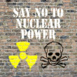 Say no to nuclear power — Stock Photo