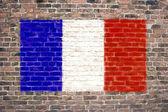 Francouzská vlajka — Stock fotografie