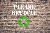 Please Recycle — Stock Photo