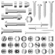 Stock Vector: Nuts and bolts