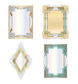 Art deco frames — Stock Vector