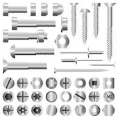 Nuts and bolts — Stock Vector