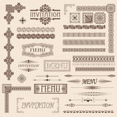 Decorative border elements — Vettoriale Stock