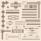 Elementi decorativi di confine — Vettoriale Stock