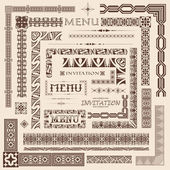 Decorative border elements — Stock Vector