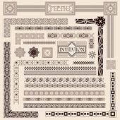 Decoratieve rand elementen — Stockvector