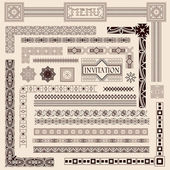 Decorative border elements — Stock Vector