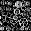 Chrome gears — Stock Vector