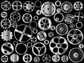 Chrome gears — Stock Vector