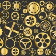Gold gears — Stock Vector