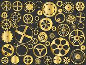 Gold gears — Stock Vector