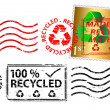Recycling stamp — Stock Vector