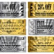 Gold and Silver Tickets — Stock Vector