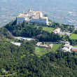 Stock Photo: Aerial view of Montecassino Monastery.