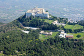 Aerial view of Montecassino Monastery. — Stock Photo