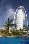 Scenic view of Burj Al Arab. — Stock Photo