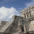 Historic mayan temple in tulum, — Stock Photo