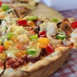 Seafood Pizza on the table. — Stock Photo #10036449