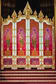 Art pattern on the wooden door in Thai temple — Zdjęcie stockowe