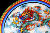 Chinese style dragon wall — Stock Photo