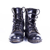 Military boots at Through use. — Stock Photo