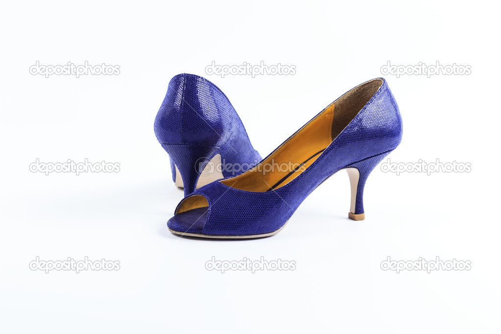 Purple shoes isolated on white background  Stock Photo #10468929