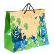 Concept picture of shopping recycle paper bag for save environme — Stock Photo