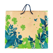 Alışveriş geri dönüşüm kağıt torba için kavram Resmi Kaydet environme — Stok fotoğraf
