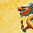 Chinese style dragon statue - Foto Stock