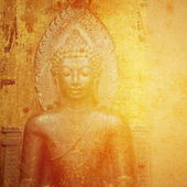 Abstract Buddhist Collage Background — Stock Photo