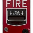 Red wall style fire alarm — Stockfoto