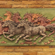 Horse sculptures. Use to decorate on the wall. — Stock Photo