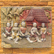 Thai culture sculptors. Use to decorate on the wall. - Photo