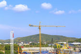 Crane on a construction site. — Stock Photo