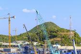 Crane on a construction site. — Stock Photo