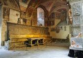 Ancient court in Pistoia — Stock Photo