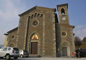 Church of Serravalle Country — Stock Photo
