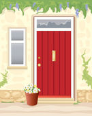 Cottage door — Stock Vector