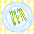 Stock Vector: Asparagus spears