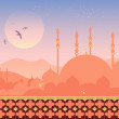 Mosque at sunset — Stock Vector #10495390