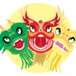 Dragon heads — Stock Vector #10613901