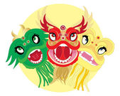Dragon heads — Stock Vector