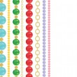 Colorful beads — Imagen vectorial