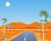 Australian landscape — Stock Vector