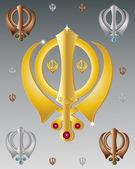 Sikh symbol — Stock Vector