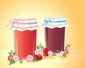 Home made jam — Stock Vector